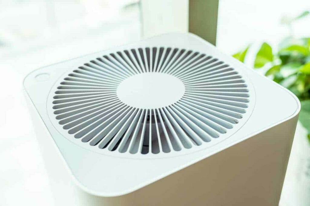 Use an air purifier-view of top of air purifier